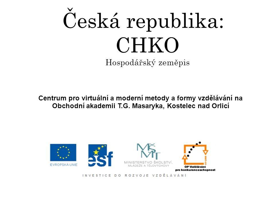 Česká republika: CHKO Hospodářský zeměpis