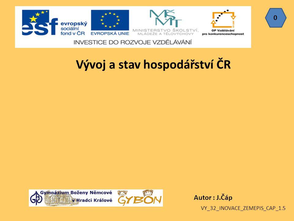 Vývoj a stav hospodářství ČR