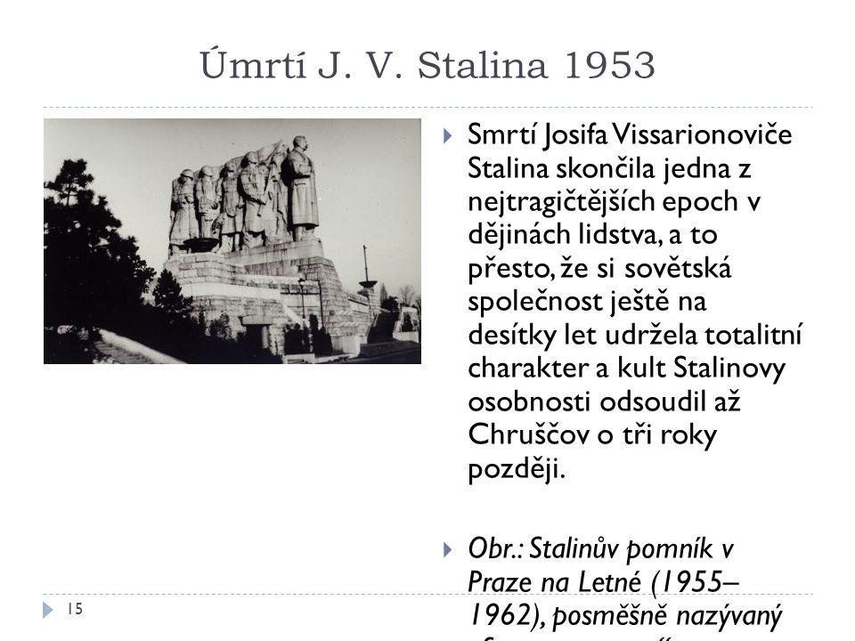 Úmrtí J. V. Stalina 1953