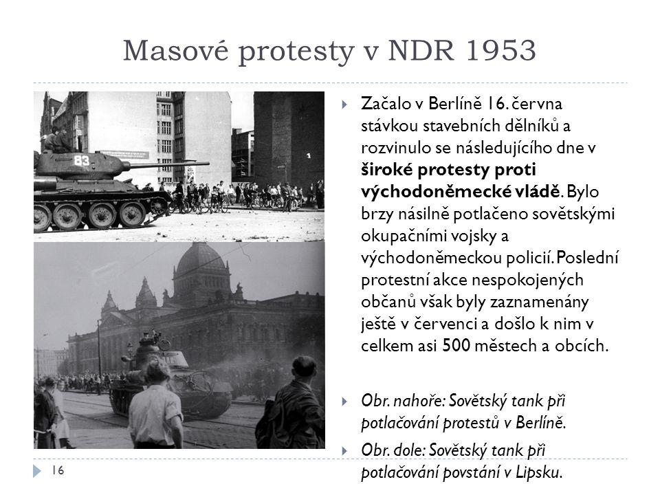 Masové protesty v NDR 1953