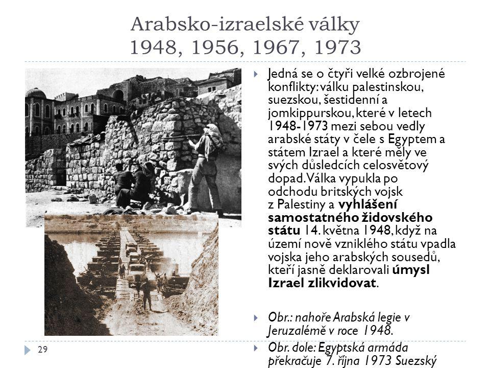 Arabsko-izraelské války 1948, 1956, 1967, 1973