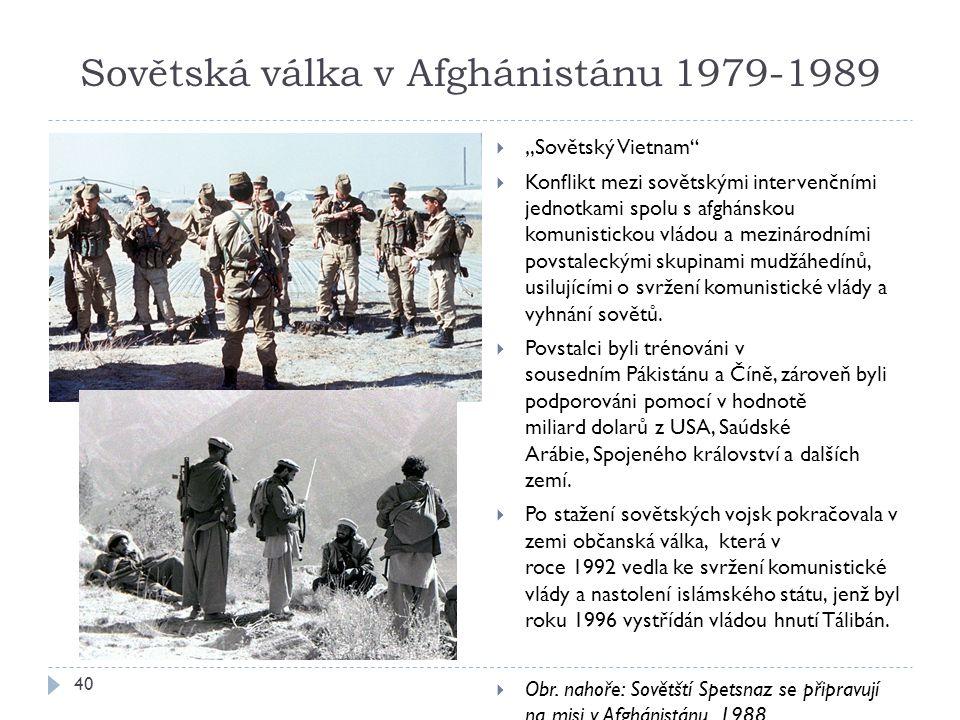 Sovětská válka v Afghánistánu 1979-1989