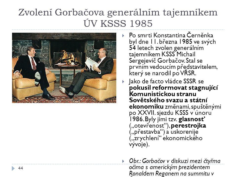 Zvolení Gorbačova generálním tajemníkem ÚV KSSS 1985