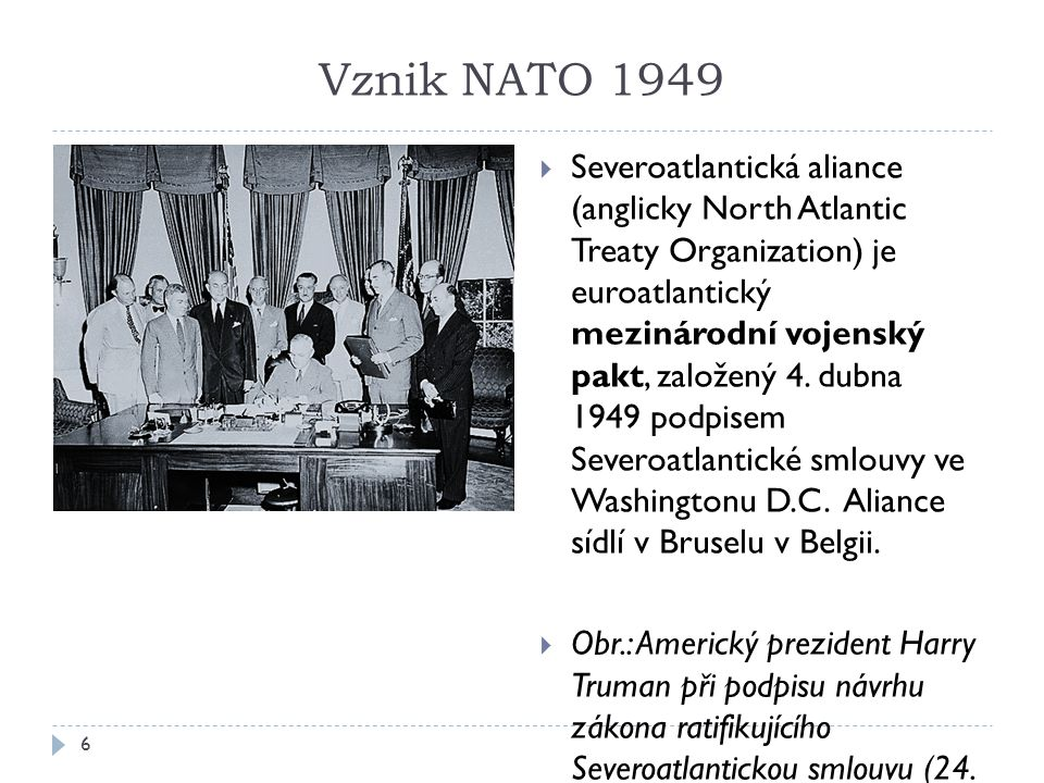 Vznik NATO 1949