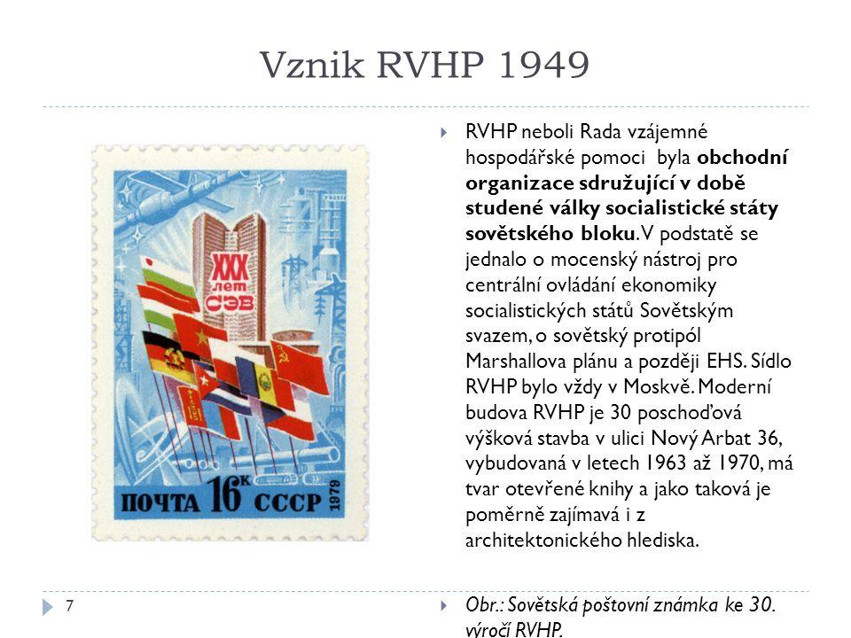 Vznik RVHP 1949