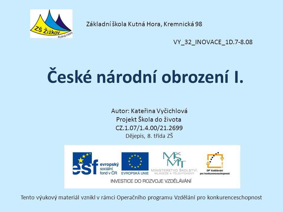 České národní obrození I.