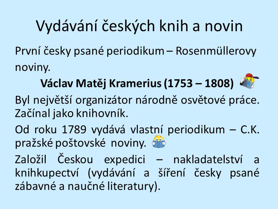 Vydávání českých knih a novin