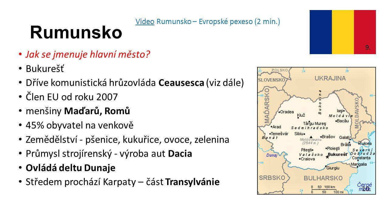 Rumunsko Jak se jmenuje hlavní město Bukurešť
