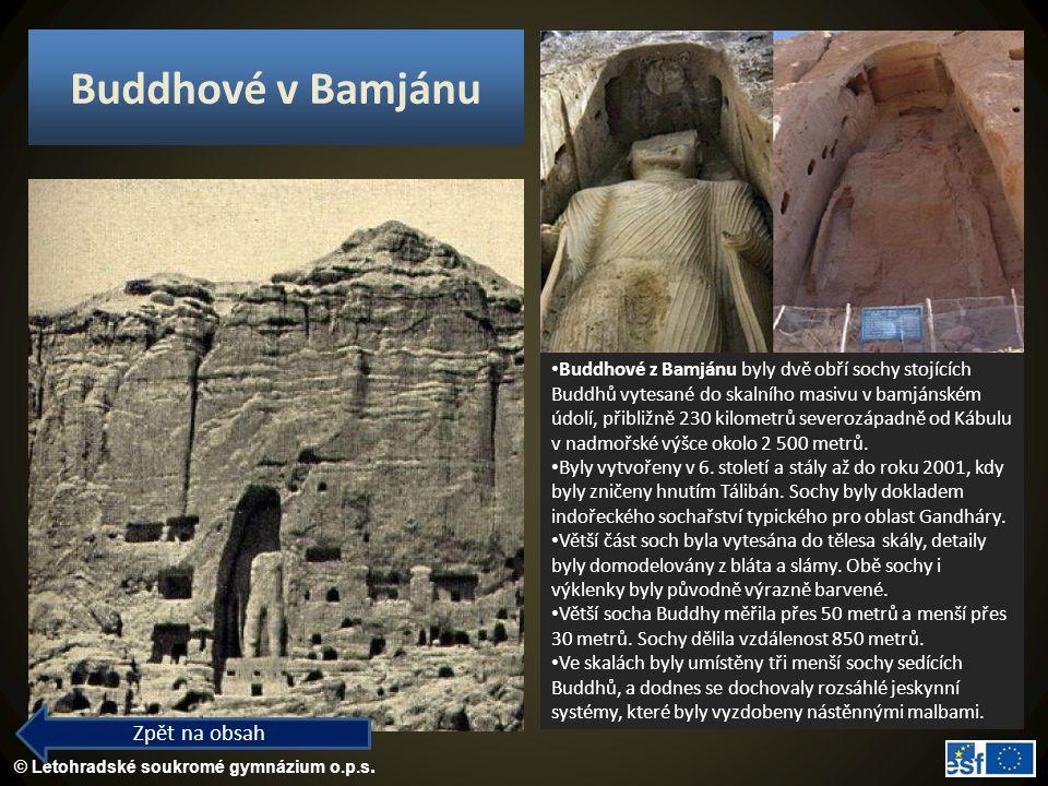 Buddhové v Bamjánu Zpět na obsah