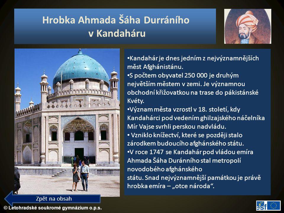 Hrobka Ahmada Šáha Durráního v Kandaháru