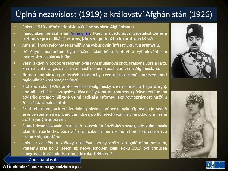 Úplná nezávislost (1919) a království Afghánistán (1926)