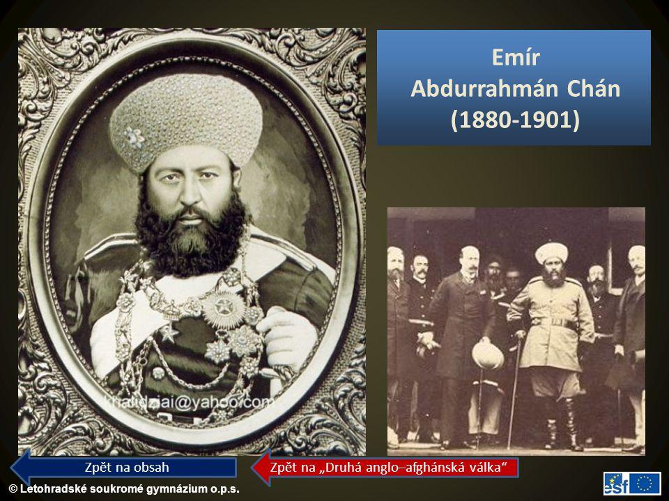 Emír Abdurrahmán Chán (1880-1901)