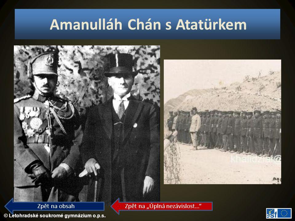 Amanulláh Chán s Atatürkem