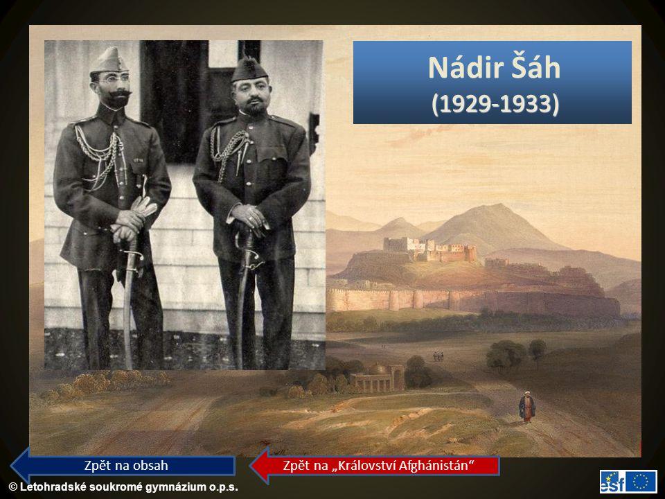 """Zpět na """"Království Afghánistán"""