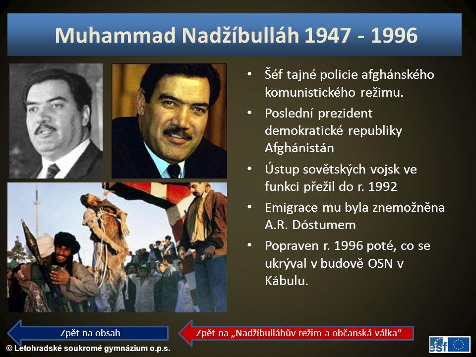 Muhammad Nadžíbulláh 1947 - 1996