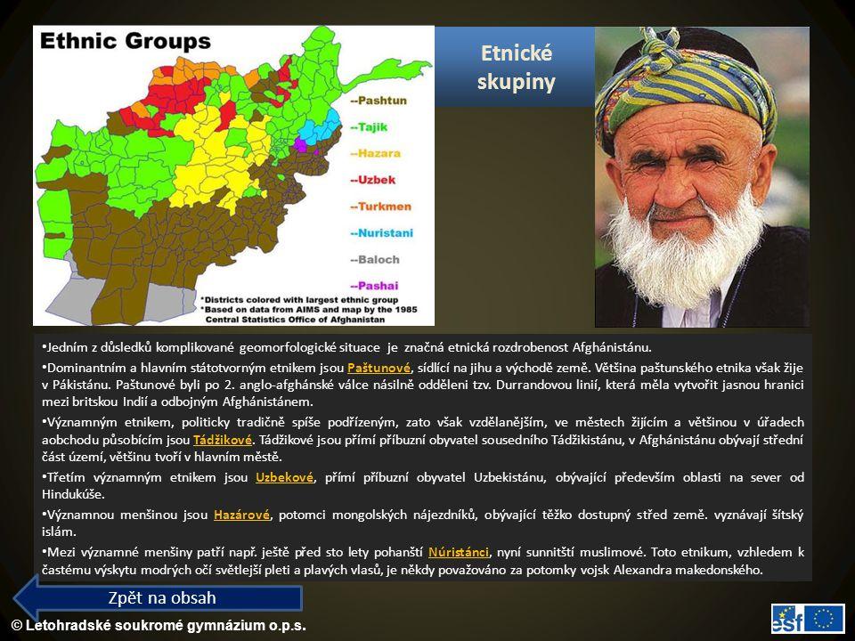 Etnické skupiny Zpět na obsah