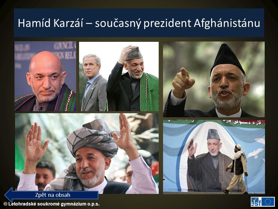 Hamíd Karzáí – současný prezident Afghánistánu