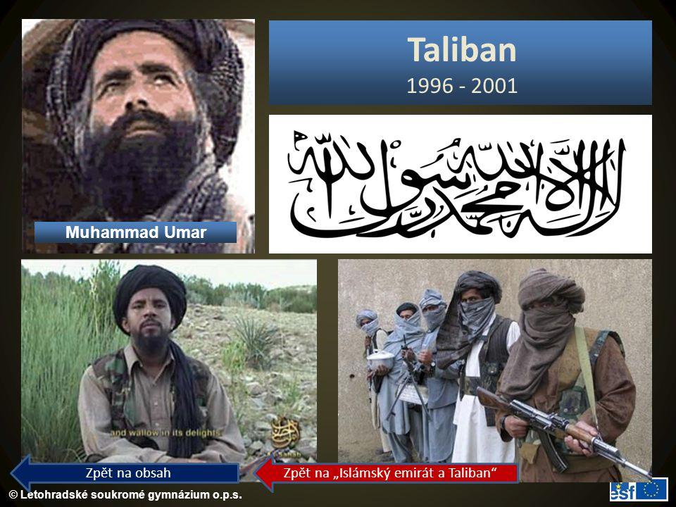 """Zpět na """"Islámský emirát a Taliban"""