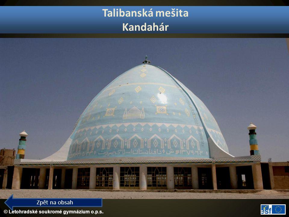 Talibanská mešita Kandahár