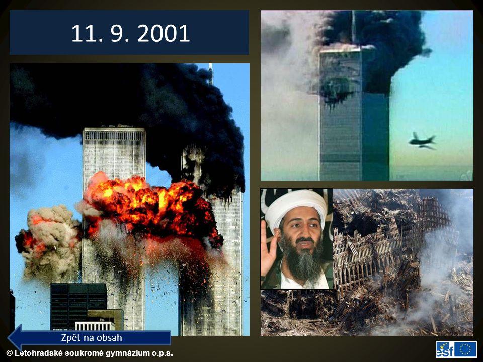 11. 9. 2001 Zpět na obsah