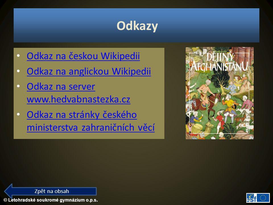 Odkazy Odkaz na českou Wikipedii Odkaz na anglickou Wikipedii