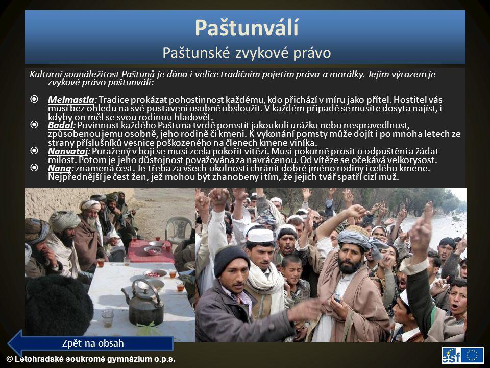 Paštunválí Paštunské zvykové právo