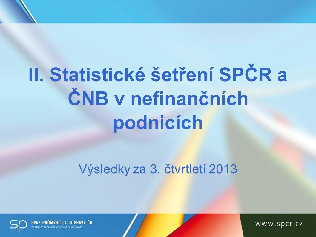 II. Statistické šetření SPČR a ČNB v nefinančních podnicích