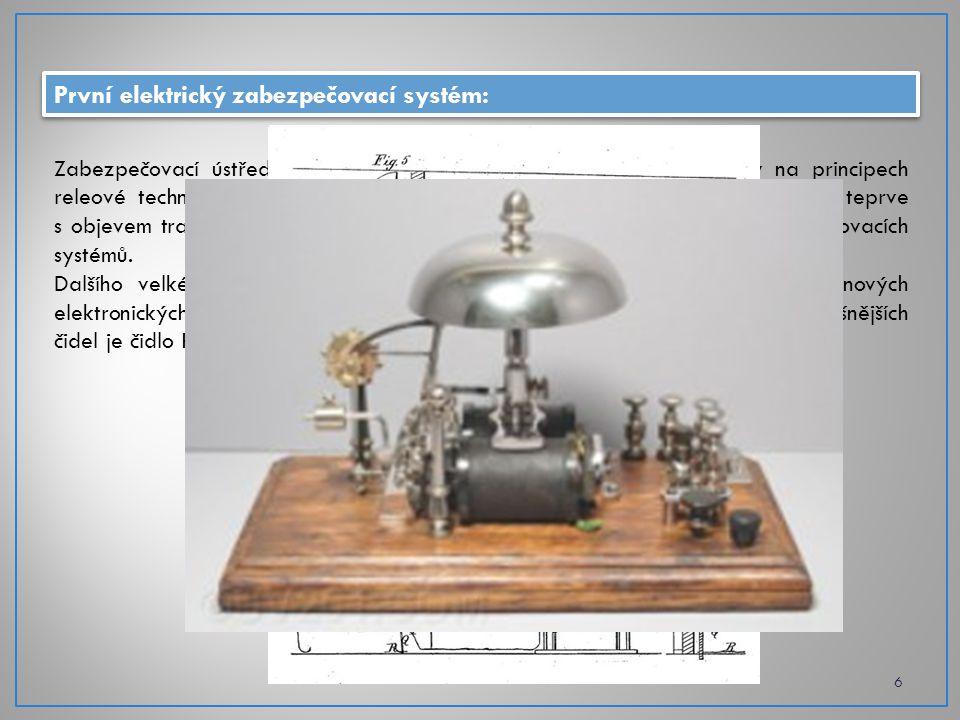 První elektrický zabezpečovací systém: