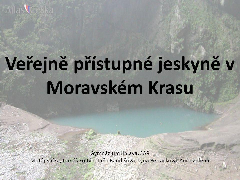 Veřejně přístupné jeskyně v Moravském Krasu