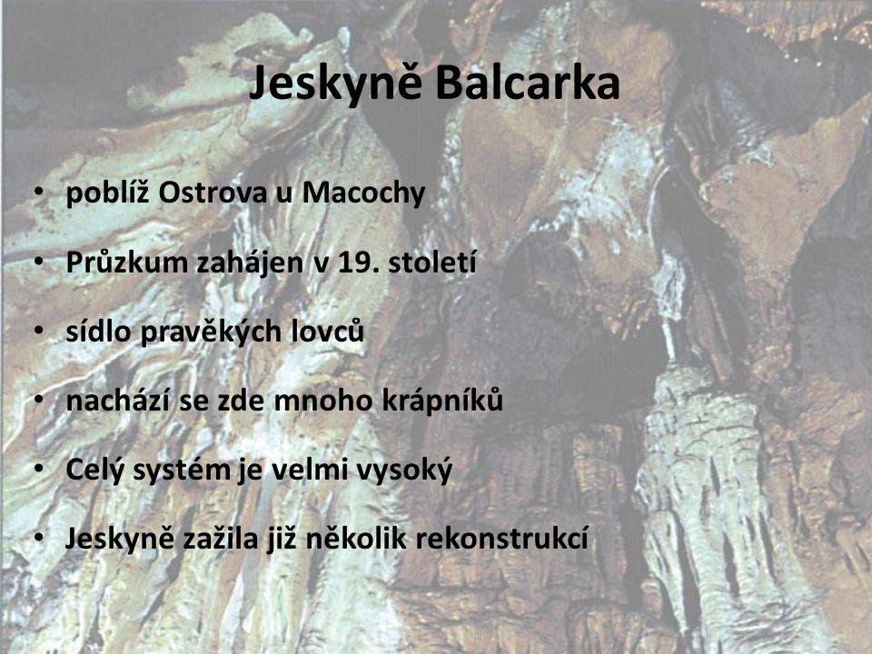 Jeskyně Balcarka poblíž Ostrova u Macochy