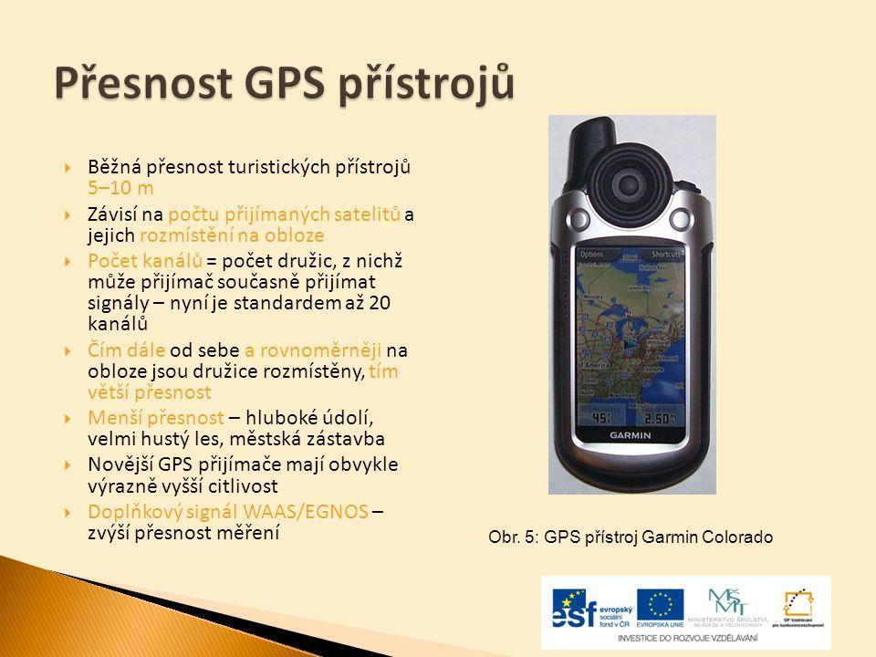 Přesnost GPS přístrojů