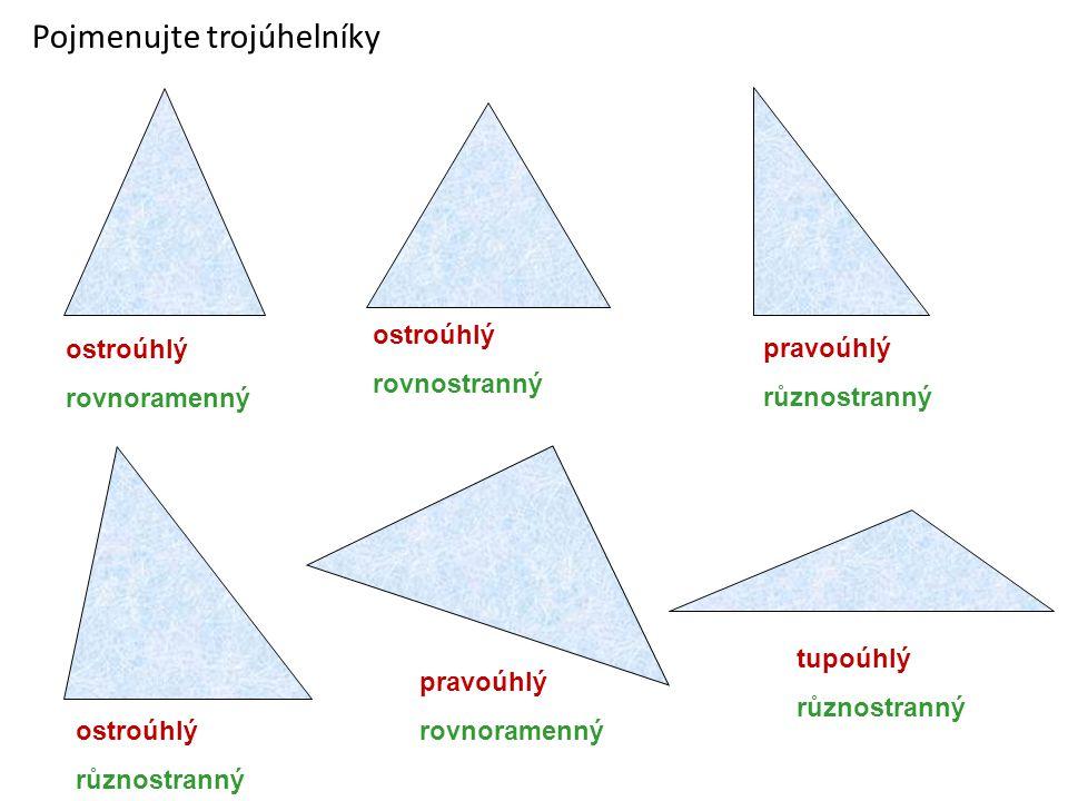 Pojmenujte trojúhelníky