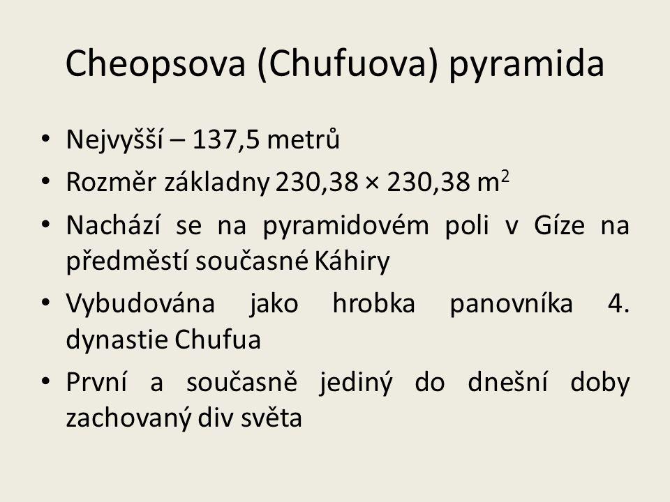 Cheopsova (Chufuova) pyramida