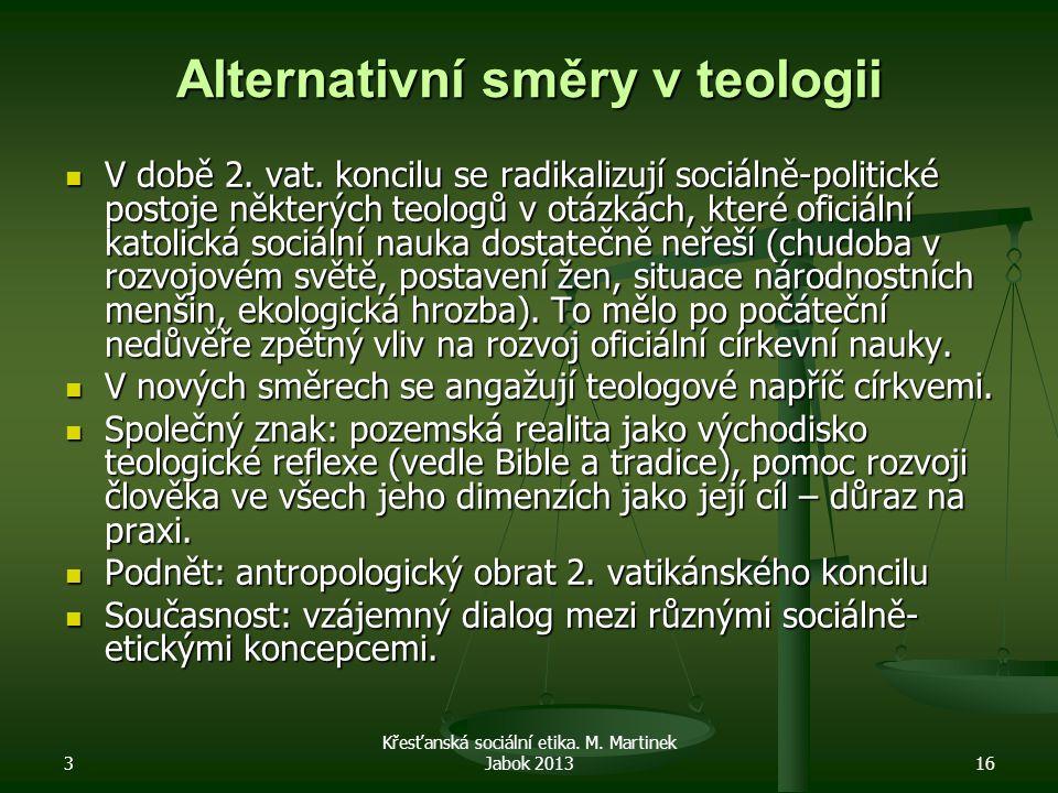 Alternativní směry v teologii
