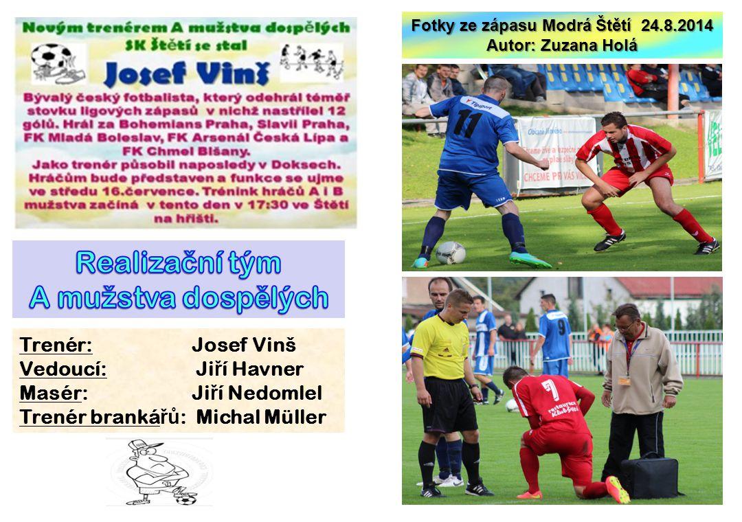 Fotky ze zápasu Modrá Štětí 24.8.2014