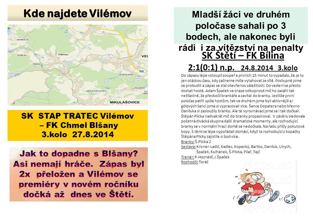 Kde najdete Vilémov SK Štětí – FK Bílina