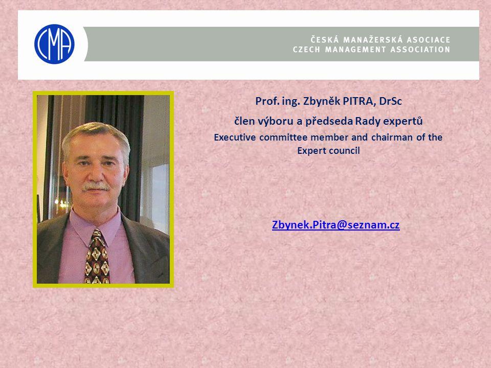 Prof. ing. Zbyněk PITRA, DrSc člen výboru a předseda Rady expertů
