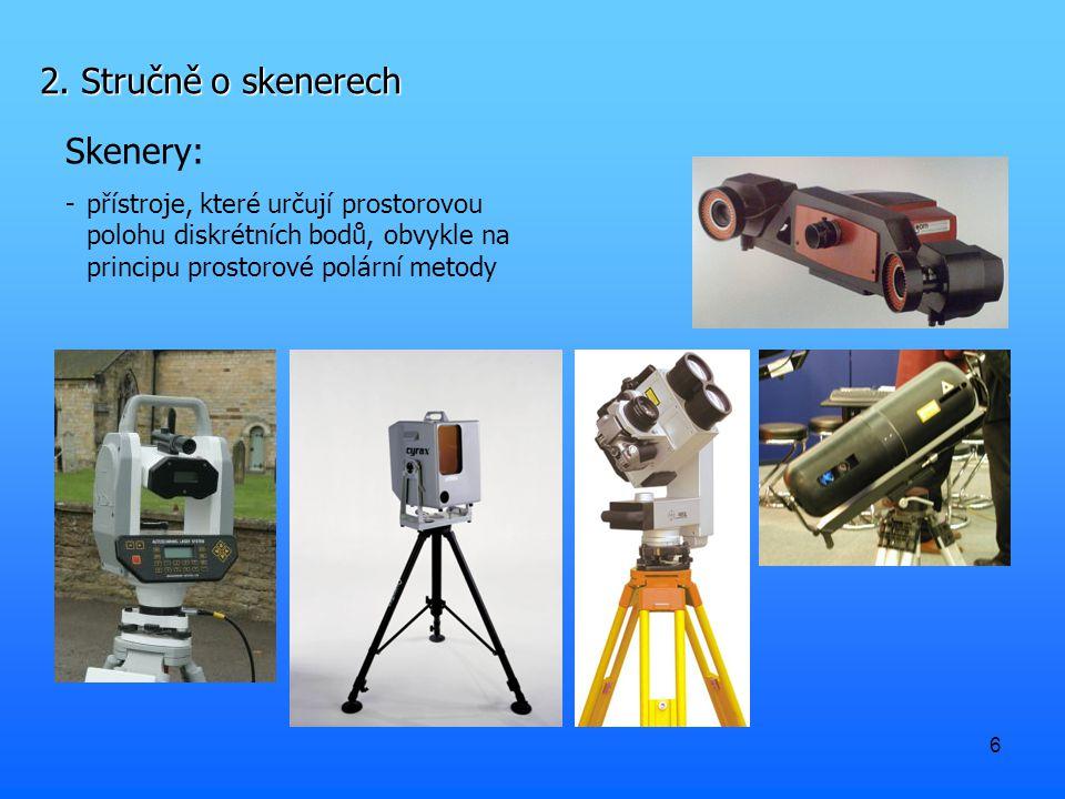 2. Stručně o skenerech Skenery: