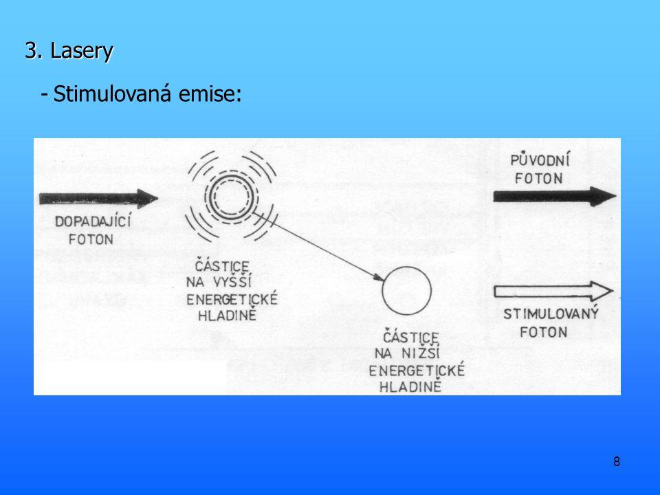 3. Lasery Stimulovaná emise: