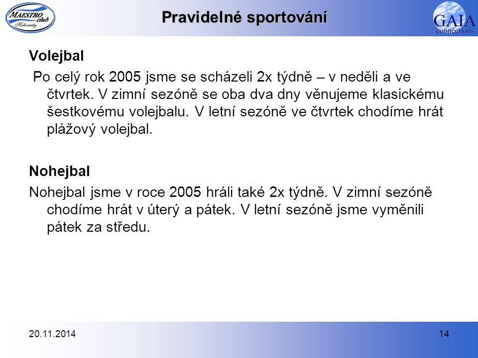 Pravidelné sportování
