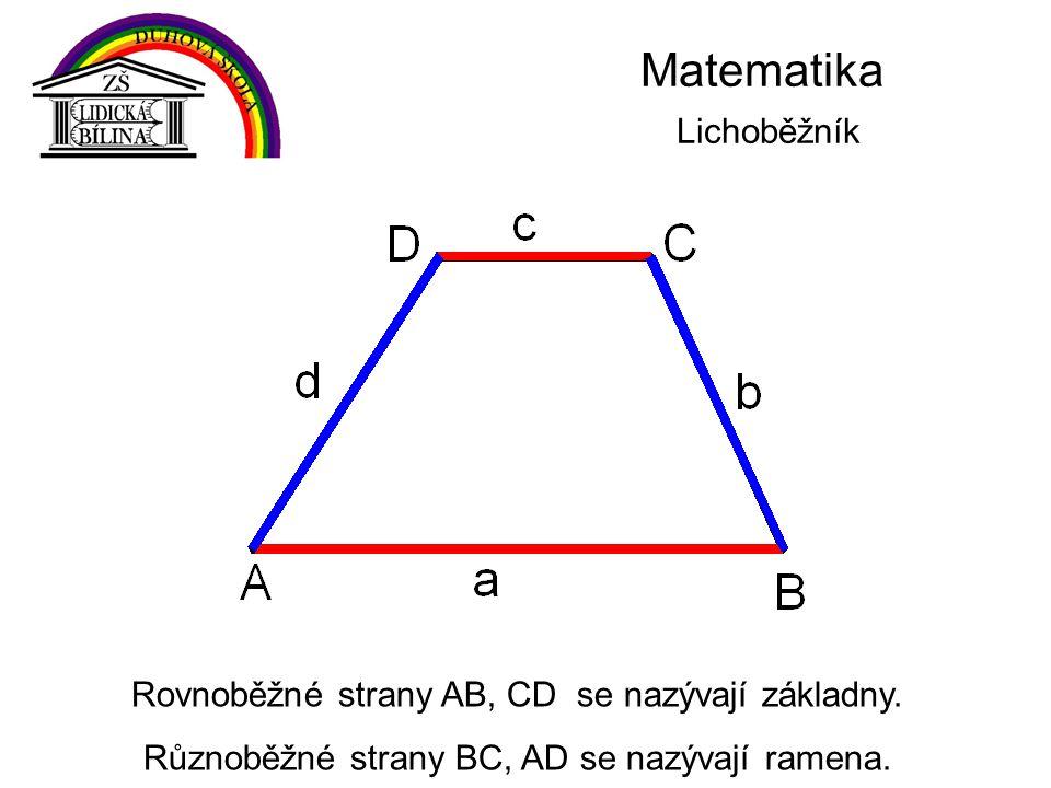 Matematika Lichoběžník