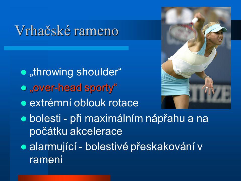 """Vrhačské rameno """"throwing shoulder """"over-head sporty"""