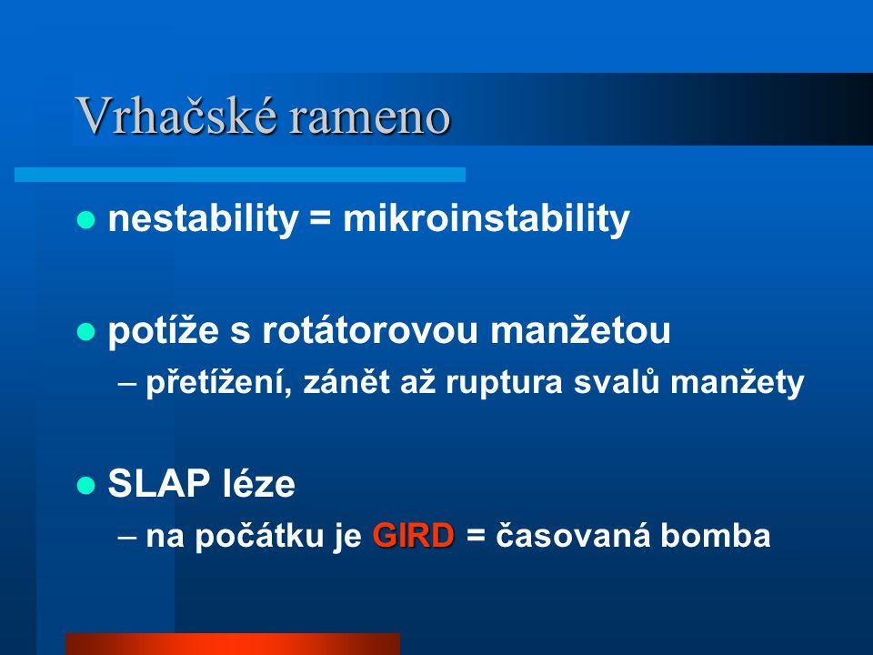 Vrhačské rameno nestability = mikroinstability