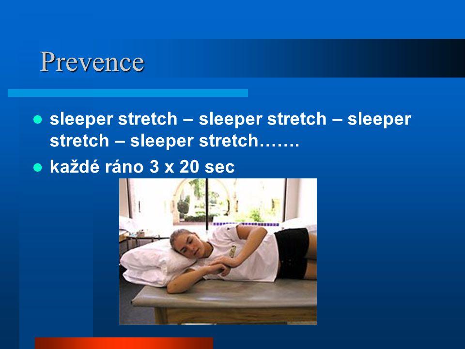Prevence sleeper stretch – sleeper stretch – sleeper stretch – sleeper stretch…….