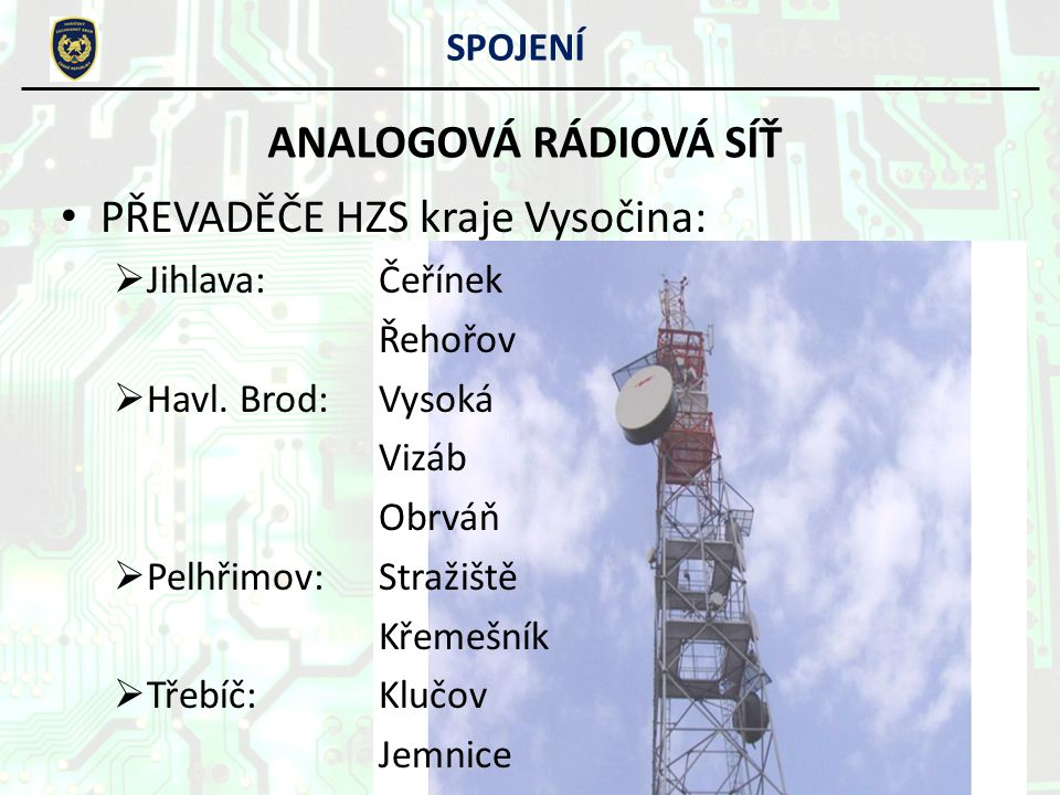 PŘEVADĚČE HZS kraje Vysočina:
