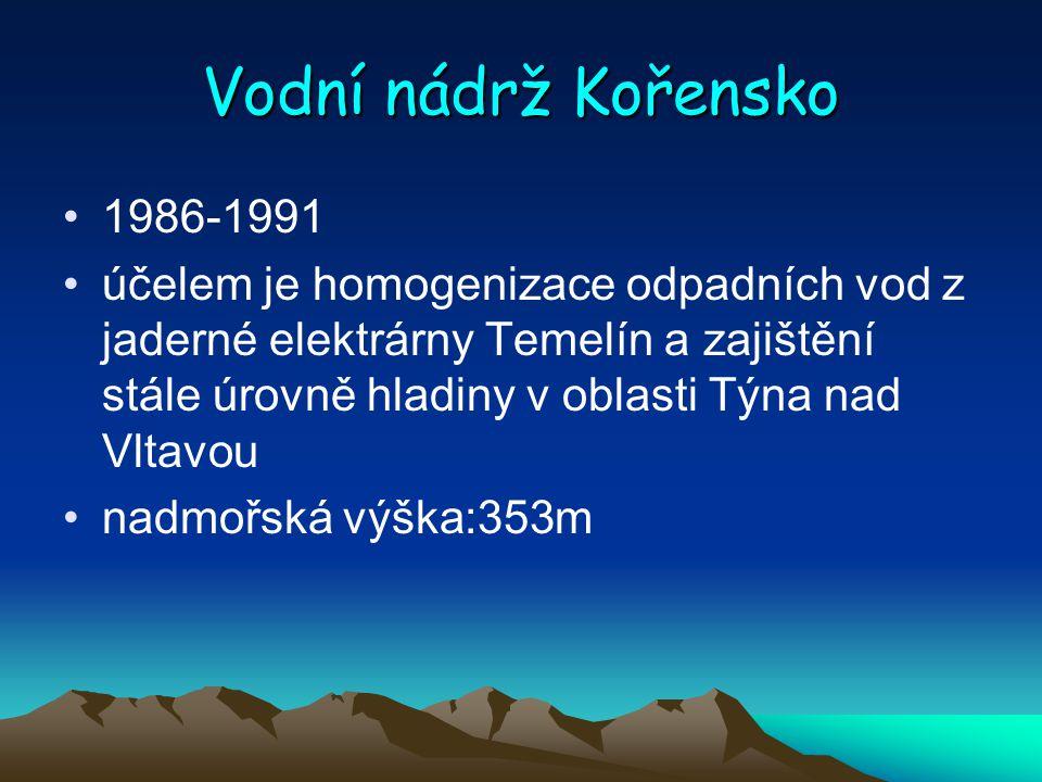 Vodní nádrž Kořensko 1986-1991.
