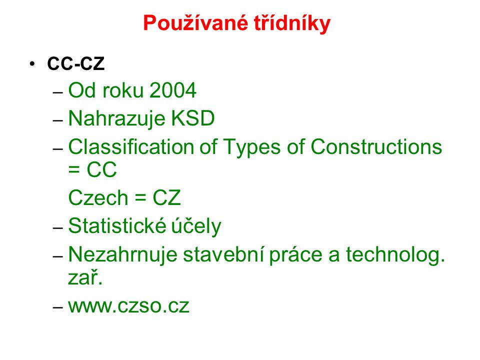 Classification of Types of Constructions = CC Czech = CZ