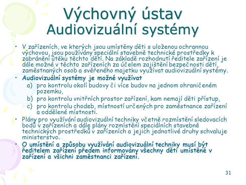 Výchovný ústav Audiovizuální systémy