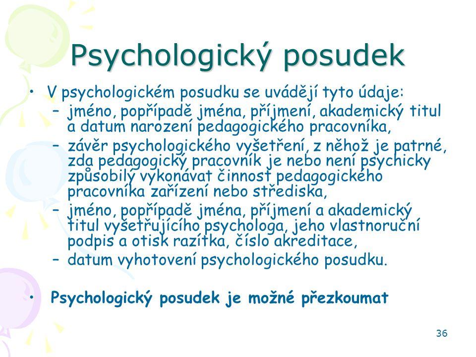 Psychologický posudek
