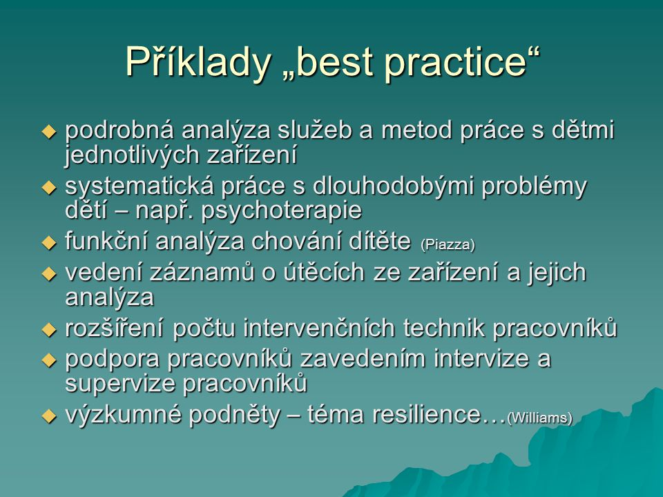 """Příklady """"best practice"""